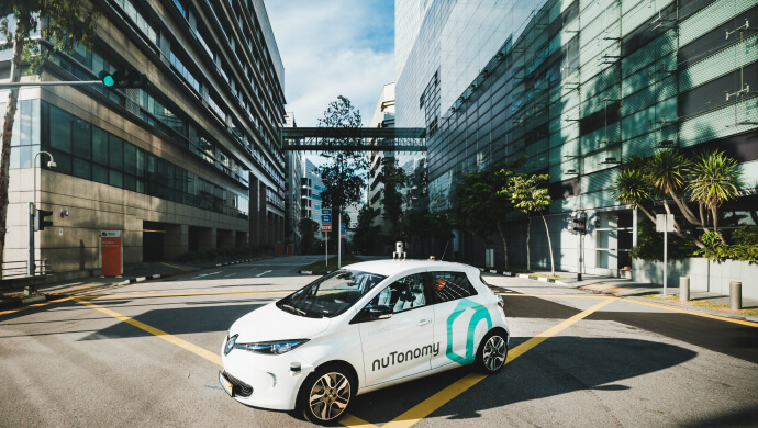 Self-driving taxis, Singapore travel, nuTonomy