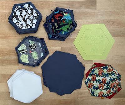 supplies to sew a hexagon quilt