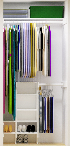 Easy small closet organizer plans - Closet storage ideas small spaces model ...