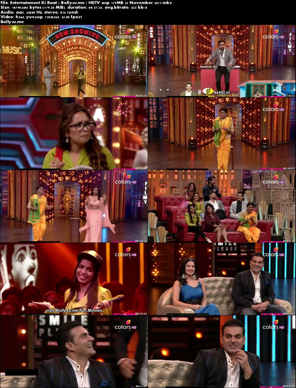 Entertainment Ki Raat HDTV 480p 180MB 25 November 2017 Download