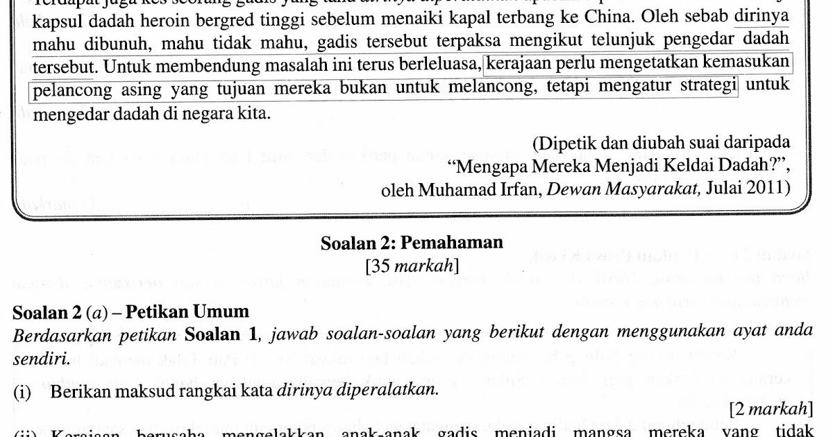 Contoh Soalan Rumusan Bahasa Melayu Pt3 - Viral Blog u