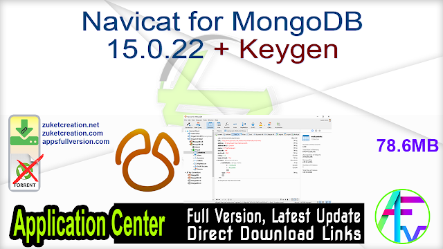 Navicat for MongoDB 15.0.22 + Keygen