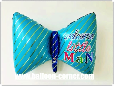 Balon Foil Dasi WELCOME LITTE MAN