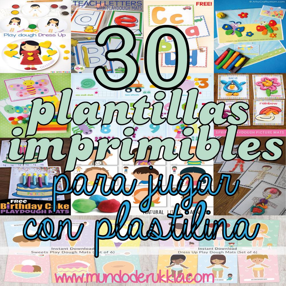 30 Plantillas Imprimibles Para Jugar Con Plastilina Mundo De Rukkia