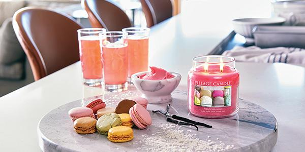 avis French Macaroon de Village Candle, bougie macaron, macaron village candle, bougie parfumee, blog bougie, scented candles, candle review, parfum macaron