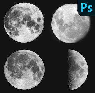 فرش القمر فوتوشوب