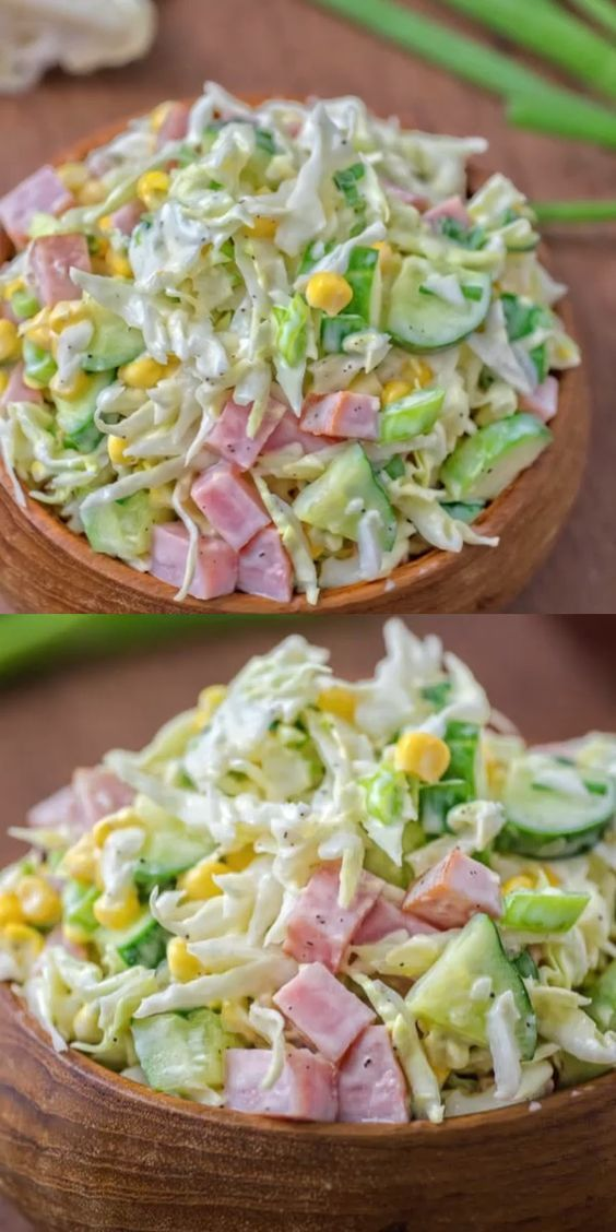 CABBAGE AND HAM SALAD #recipes #dinnerrecipes #easyrecipes #neweasyrecipes #easydinnerrecipes #easyrecipesfordinner #neweasyrecipesfordinner #food #foodporn #healthy #yummy #instafood #foodie #delicious #dinner #breakfast #dessert #yum #lunch #vegan #cake #eatclean #homemade #diet #healthyfood #cleaneating #foodstagram
