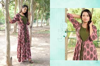 Ziva vol 3 Rayon Gown and kurtis