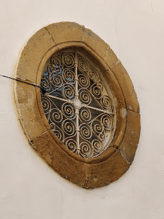 round window in building in northern Nicosia