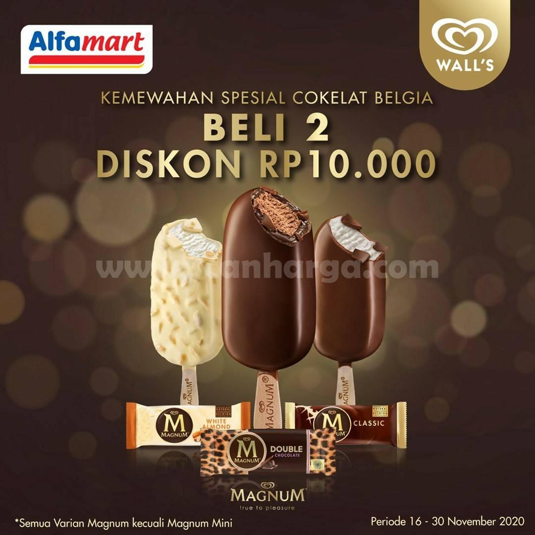 Alfamart Promo Beli 2 Wall's Magnum Diskon Rp 10.000,-