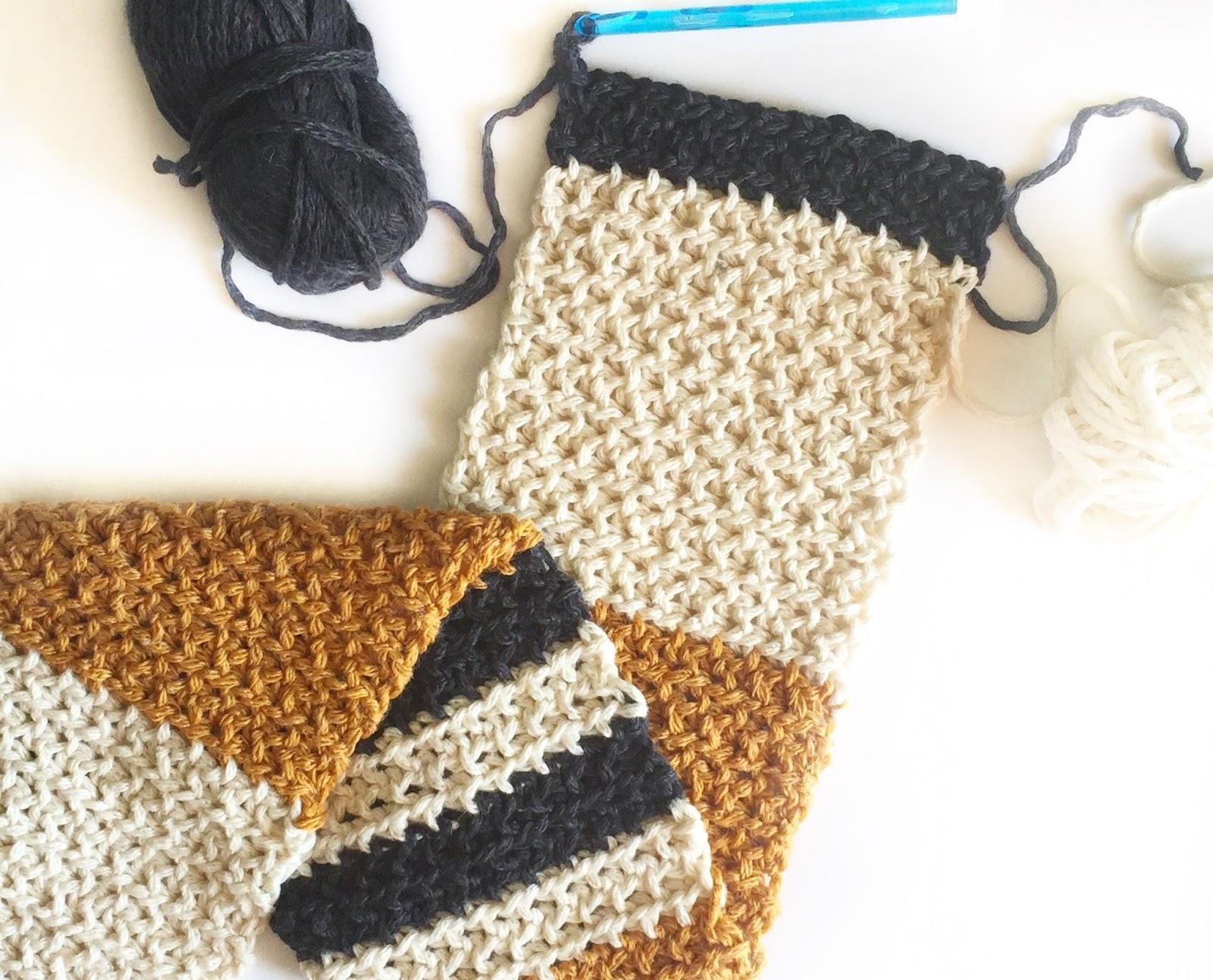 Crochet Modified Moss Stitch Scarf   Daisy Farm Crafts