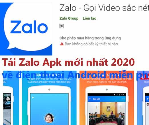 Tải Zalo Apk mới nhất 2020 về điện thoại Android miễn phí