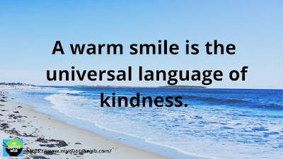 Beautiful Quotes on Smile, A Warm Smile Is The Universal