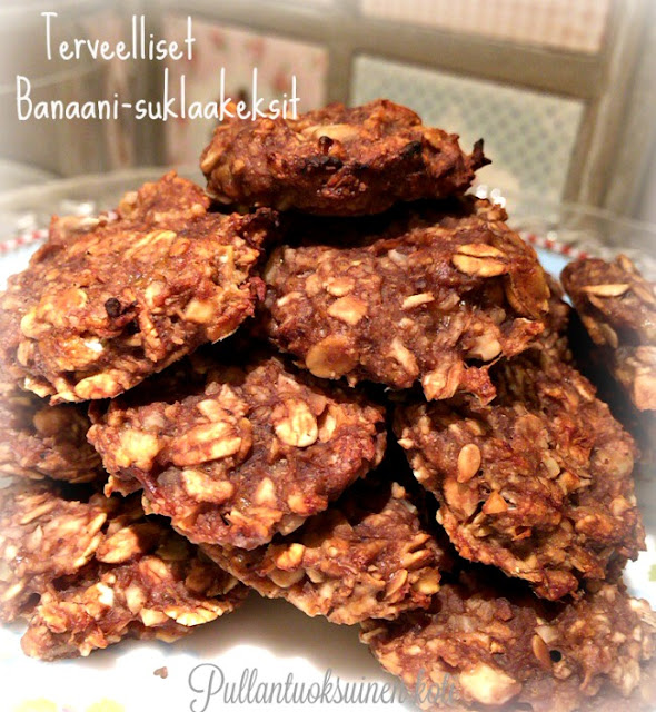 #healtybaking #healthybisquits #terveys #keksit #suklaakeksit #healty #treat #chocolate