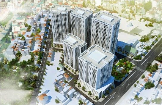 Phối cảnh chung cư New Horizon City 87 Lĩnh Nam