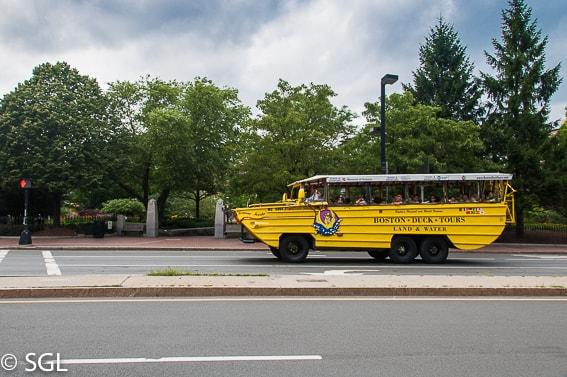 Boston Duck Tours por carretera