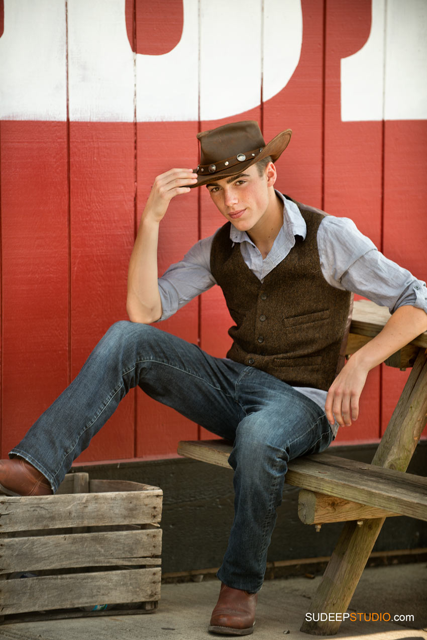 Senior Picture Guy Cowboy Western Poses Skyline - SudeepStudio.com Ann Arbor Senior Pictures Photographer