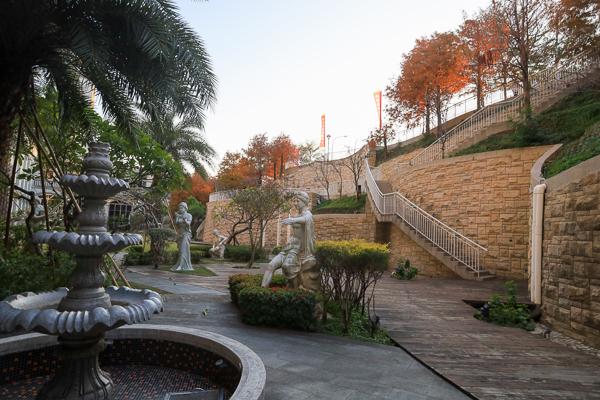 台中北屯葳格國際會議中心落羽松森林,歐風庭園散步拍照好去處