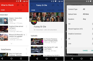YouTube apk file format for androids and tablets