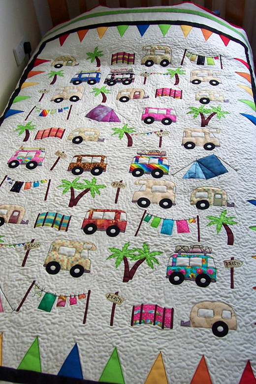 Camping Kids Quilt designed by House of Spoon for Bluprint