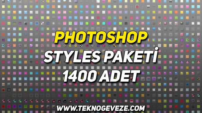 PHOTOSHOP Styles Paketi 1400 Adet İndir