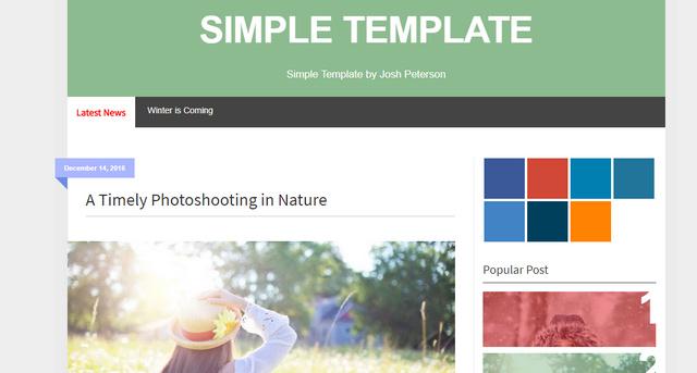 Simple Responsive Blogger Templates