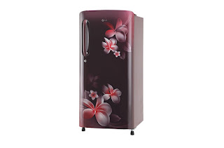 LG 190 L 5 Star Inverter Direct-Cool Single Door Refrigerator (GL-B201ASPY, Scarlet Plumeria)