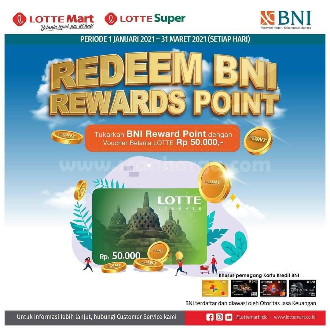 Promo LOTTEMART Redeem BNI Rewards Point dengan Voucher Belanja LOTTE senilai Rp 50.000