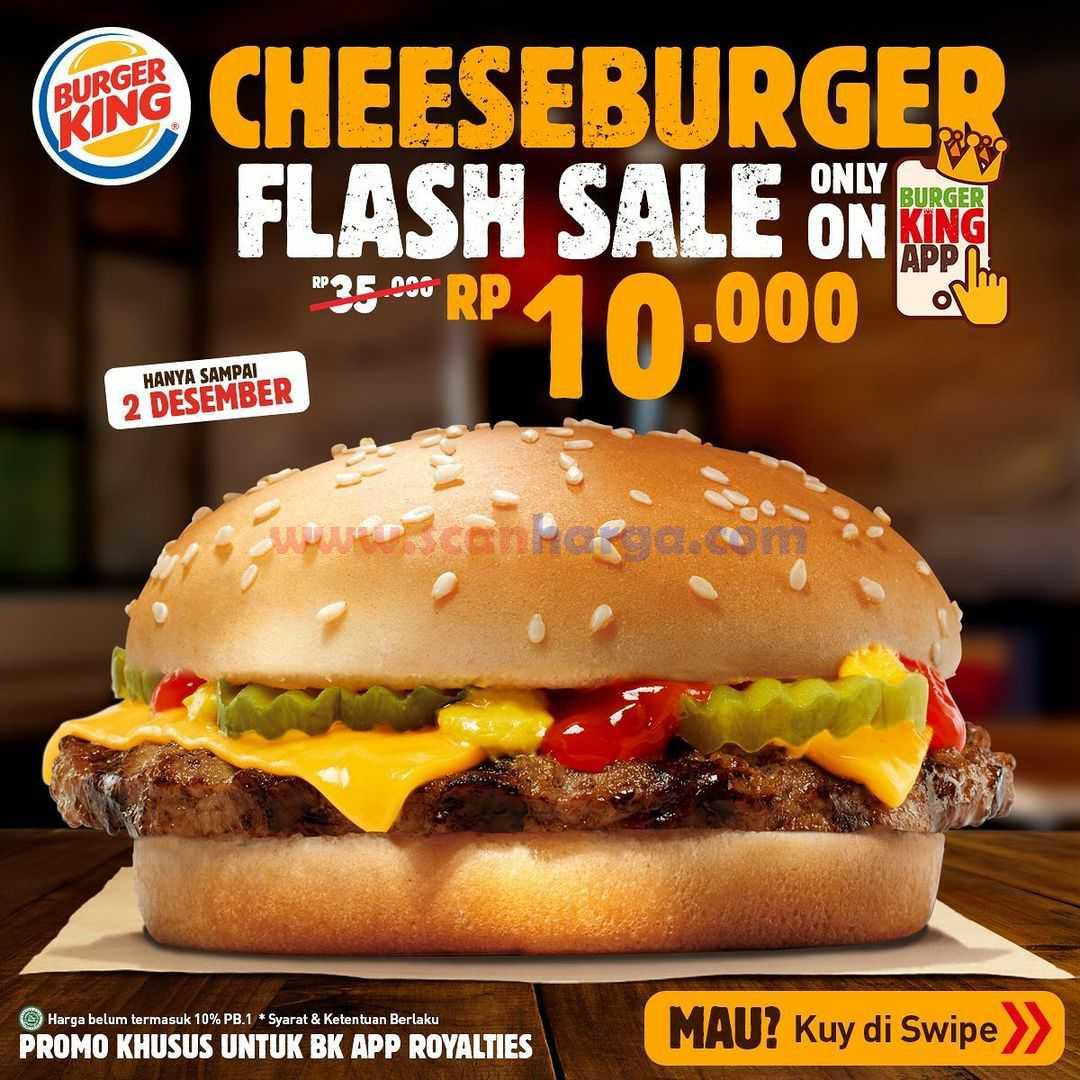 BURGER KING Promo Cheeseburger harga hanya Rp. 10.000*