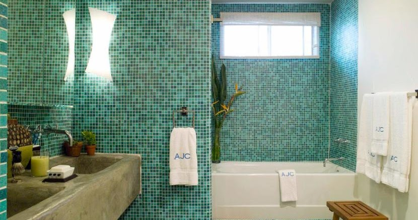 Live with what you love magnificent and unique recycled - Recycled glass tiles bathroom ...
