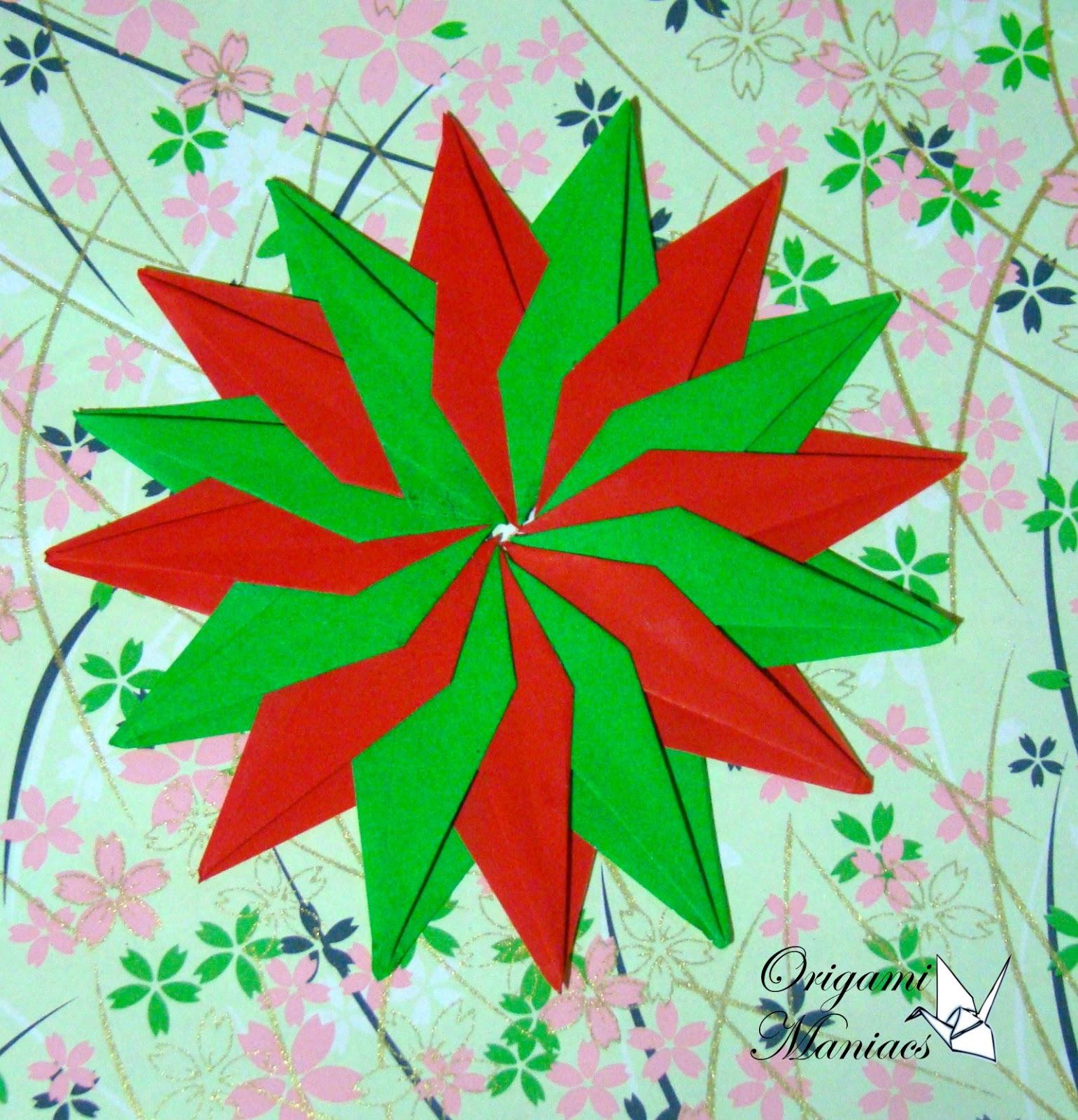 Origami Maniacs Origami Mandalas For Christmas Trees
