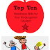 Top Ten Readiness Skills for Your Kindergartener