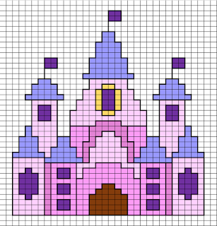 Free Disney Castle small cross stitch pattern