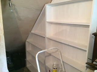 Painting the book nook