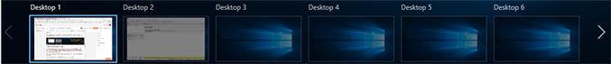 Jumlah tampilan Desktop Virtual di laptop