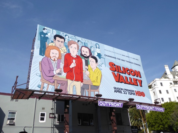 Daily Billboard  Silicon Valley season four TV billboards     Silicon Valley season 4 HBO billboard