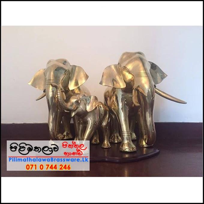 Brass Elephant Trio (Thunpath rana) - තුන්පත් රෑන