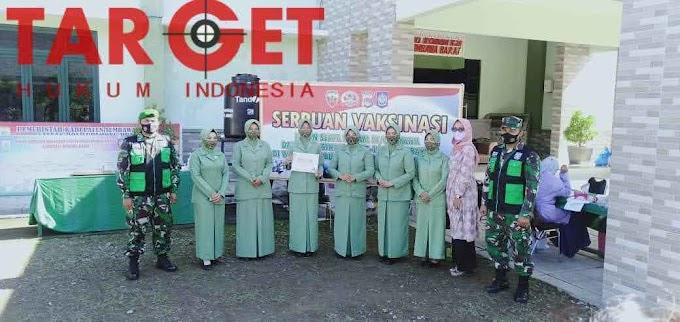 Persit Cabang XLIV Kodim 1628 Dukung Dan  Sukseskan Program Vaksinasi 1000 Vaksin di Sumbawa Barat