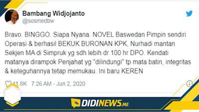 Twitt Bambang Wijayanto Soal Novel Baswedan