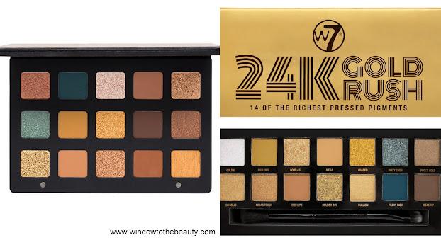 Natasha Denona Gold vs  W7 24K Gold Rush Pressed Pigment