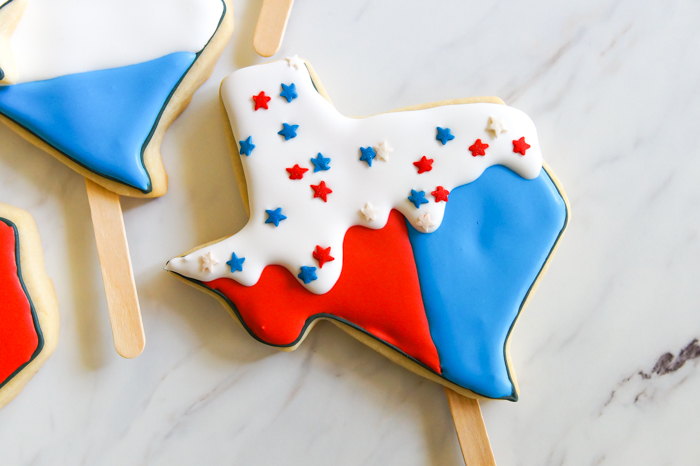 Texas Bomb Pop Cookies ♥ bakeat350.net