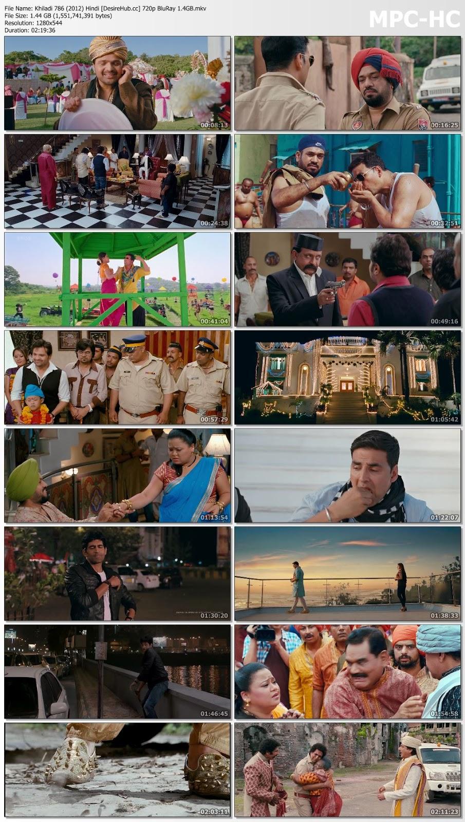 Khiladi 786 (2012) Hindi 720p BluRay 1.4GB Desirehub