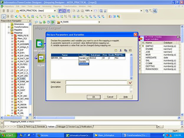 Mapping Parameter in Informatica