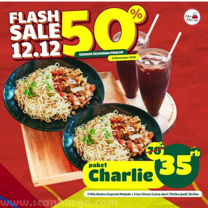 Mie Merapi Promo Flash Sale 12.12 - Diskon 50% via Grabfood