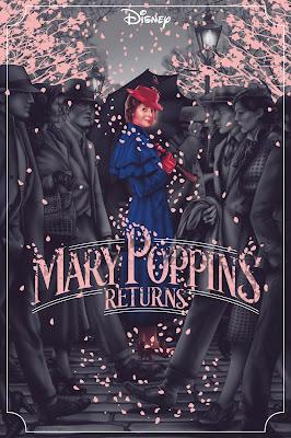 Mary Poppins Returns Screen Print by Jack Hughes x Mondo