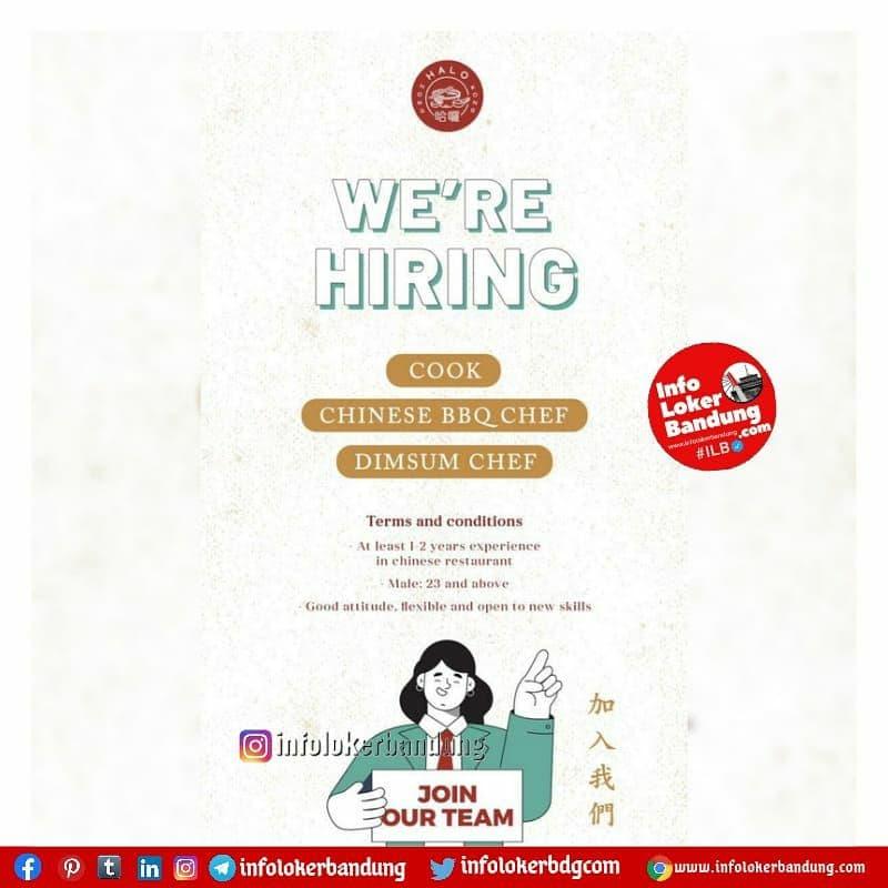 Lowongan Kerja Halo Hongkong Cafe by Tiny Dumpling Bandung Juni 2021