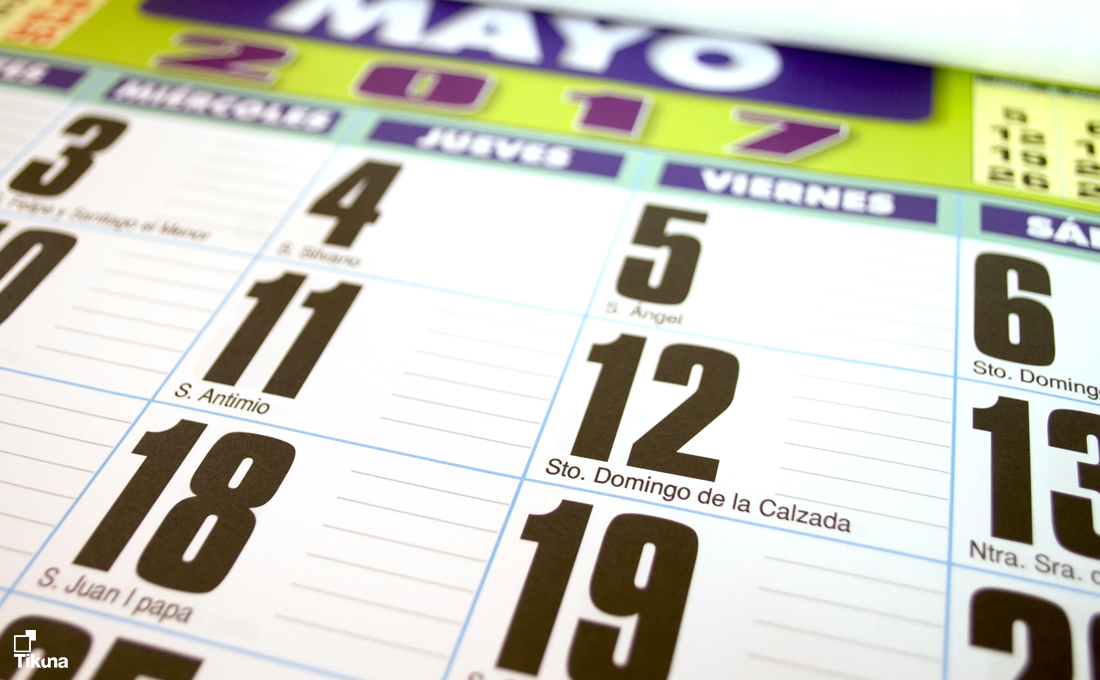 Calendarios personalizados faldillas