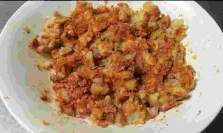 Mashed potato mixed with spices for amritsari kulcha recipe