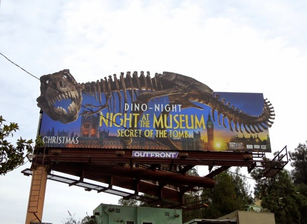 Night at the Museum 3 dinosaur skeleton billboard