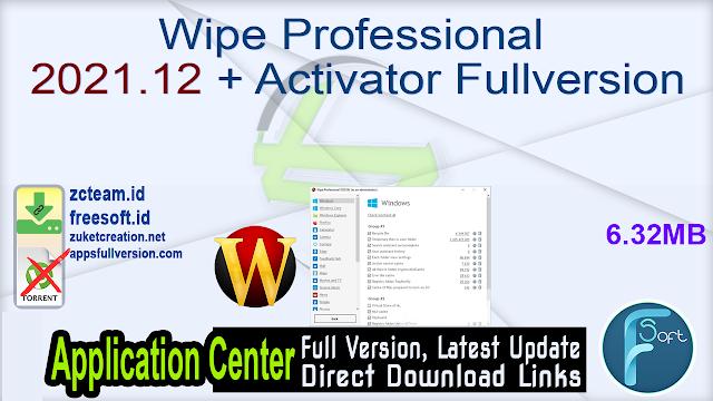 Wipe Professional 2021.12 + Activator Fullversion